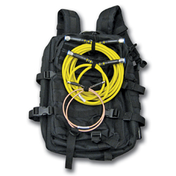 tactical backpack with ArmorFlex RF test cables